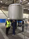 New mash tun inspection