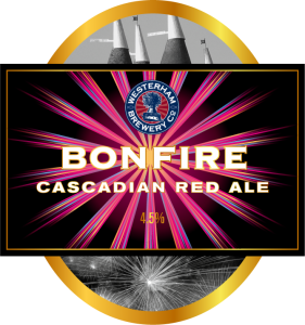 Bonfire cascadian red ale pump clip