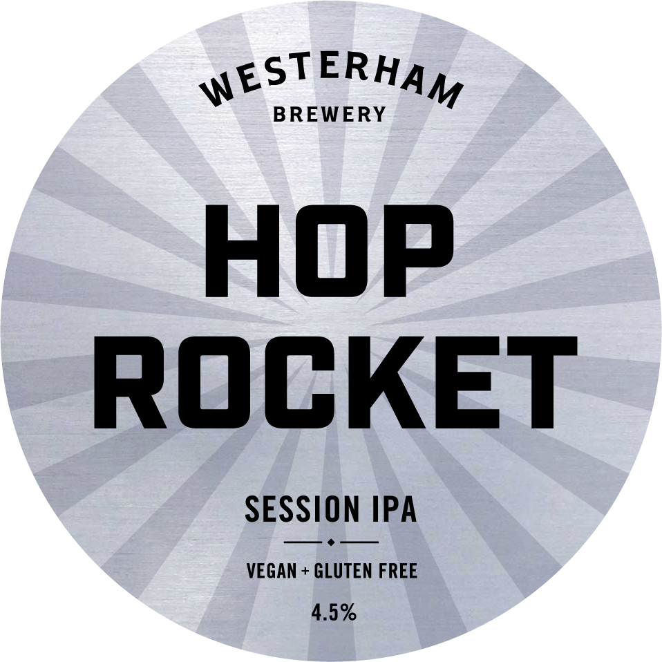 Hop Rocket Keg Badge
