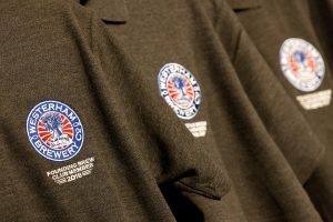 Close up of Brew Club Polo shirts